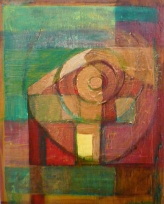 Hus. Akryl på duk (19x24)