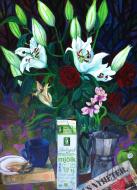 Stilleben med liljor