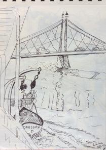 Båtfärd på Elbe