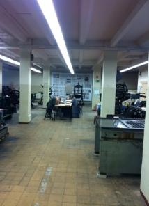 Här jobbade vi i Tryckerimuseet