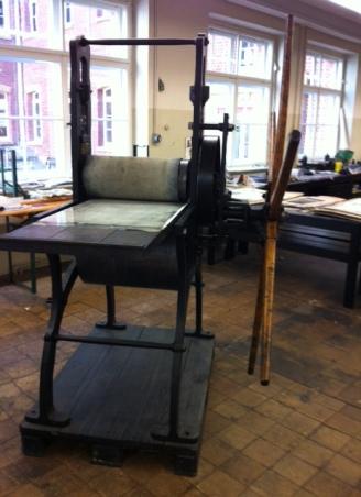 Den handvevade pressen